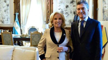 En un encuentro con el presidente Mauricio Macri en la Casa Rosada en 2016
