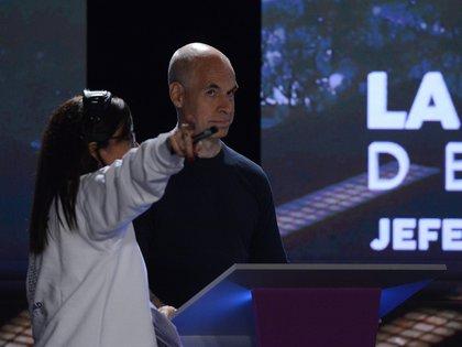 Los preparativos y la puesta en escena de uno de los protagonistas del debate