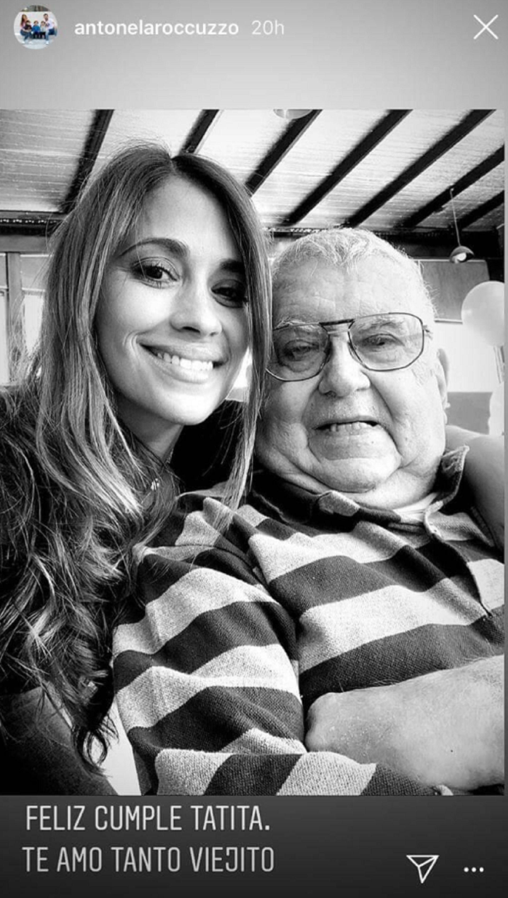 El posteo de Antonela Roccuzzo el último cumpleaños de su abuelo