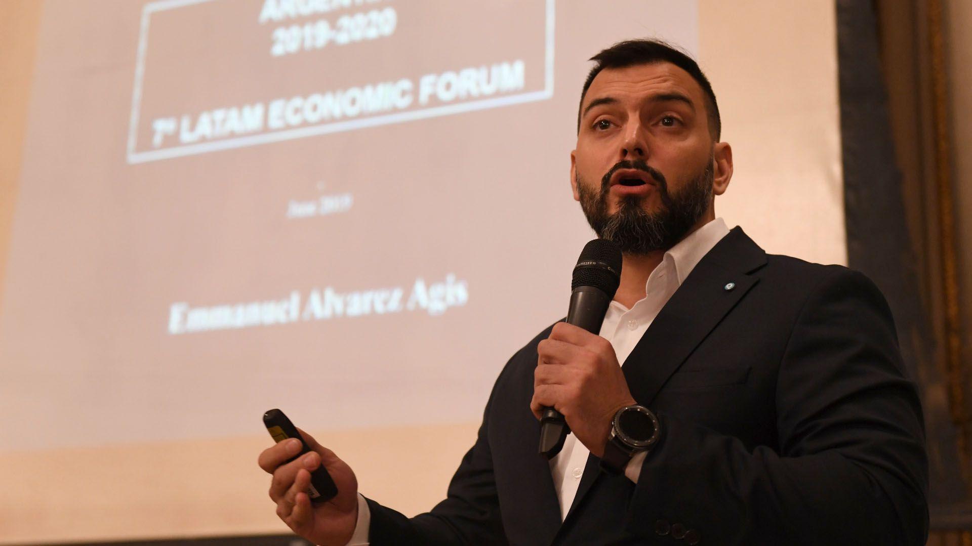 Emmanuel Álvarez Agis, otro de los oradores del evento (Maximiliano Luna)