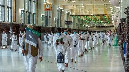 Peregrinos musulmanes en la peregrinación anual a La Meca. Saudi Press Agency/Handout via REUTERS