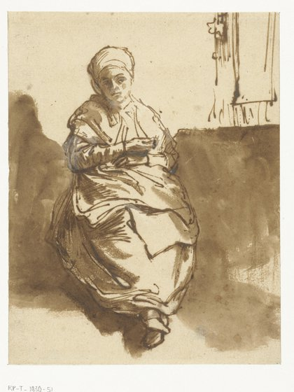 """Rembrandt van Rijn,""""Saskia sentada cerca de una ventana"""", 1638"""