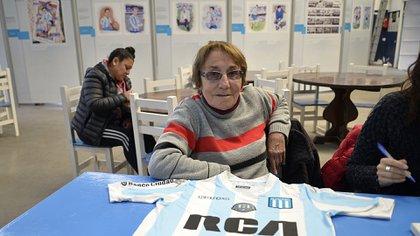Betty García, con la camiseta de Racing que supo defender (Gustavo Gavotti)
