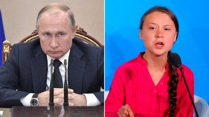 Vladimir Putin se sumó a las críticas contra Greta Thunberg