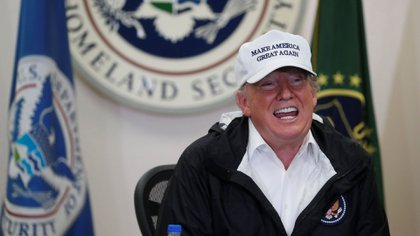 Donald Trump en la frontera con México. (Foto: Archivo)