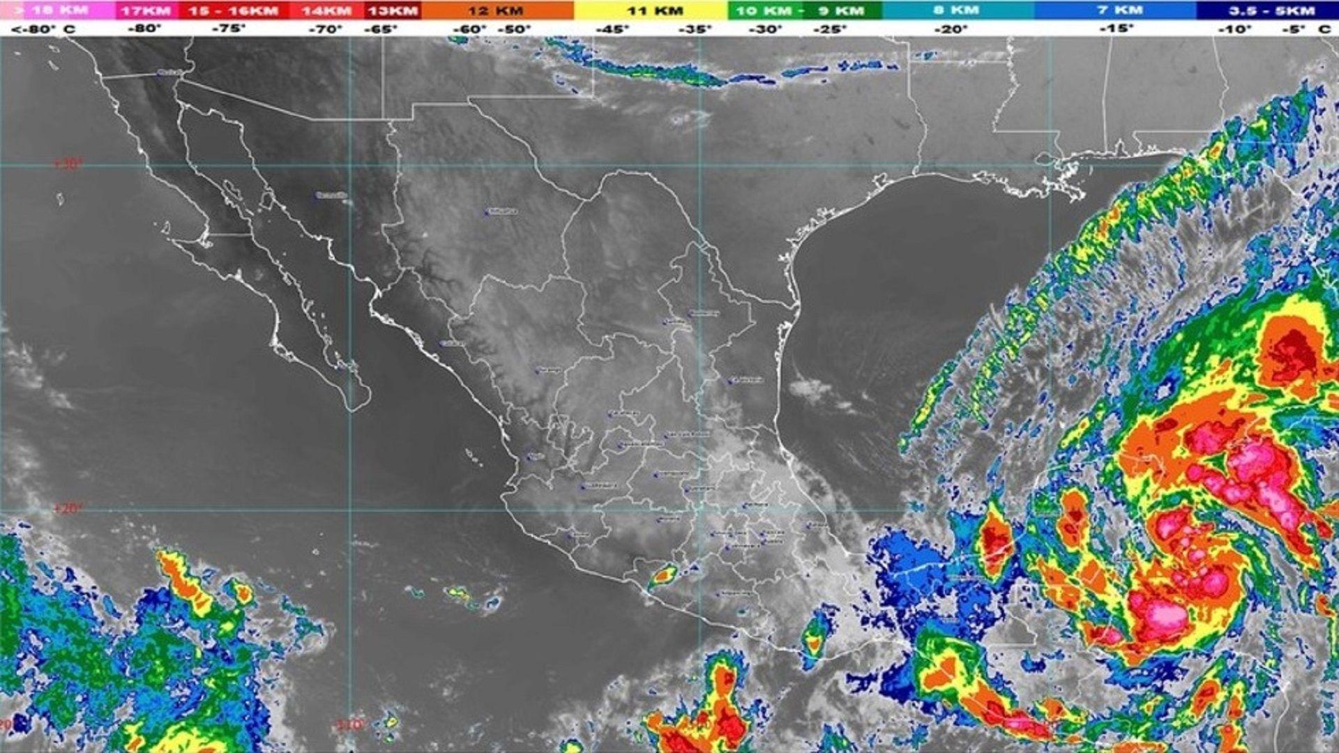 Frente Frío - Conagua - Tormenta Tropical Gamma