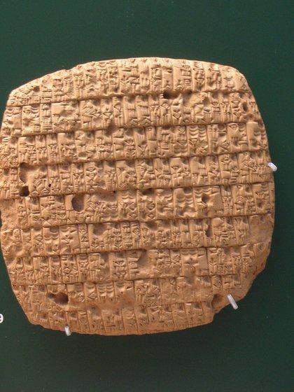 Una tablilla cuneiforme reveló la primera formulación del jabón hace 4.500 años, en Girsu. (Wikipedia)