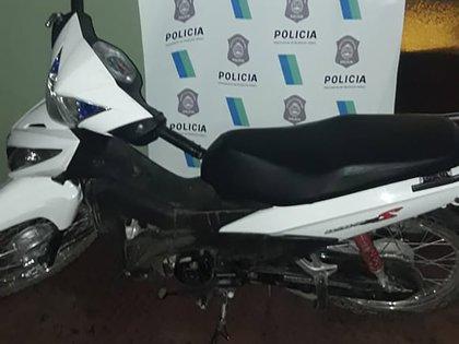 Una de las motos secuestadas