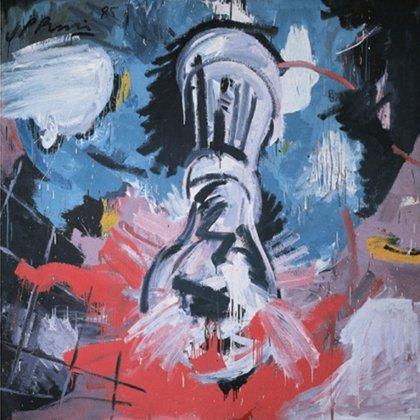 """""""Mirando al cielorraso antes del desayuno"""" (1985), otra de las obras de gran tamaño de Juan Pablo Renzi."""