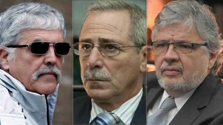 El ex ministro de Planificación Julio De Vido y los ex secretarios de Transporte Ricardo Jaime y Juan Pablo Schiavi.
