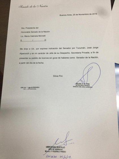 El pedido de la secretaria de Alperovich para que la licencia sea sin goce de sueldo