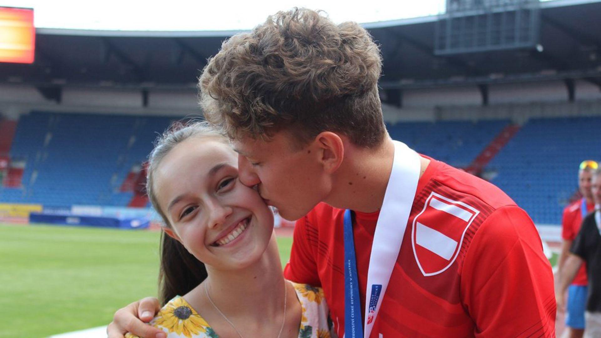 Ondrej Hodbod, atleta checo que se suicidó, y su novia