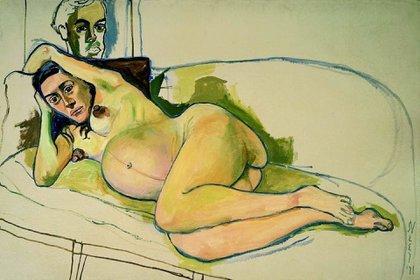 """""""Mujer embarazada"""" (1971, colección privada)"""
