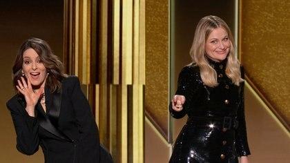 Tina Fey y and Amy Poehler, las anfitrionas de los Globos de Oro 2021 (Reuters)