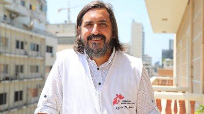 El argentino Lucas Molfino vive en Beirut desde hace un año (Foto: Médicos Sin Fronteras)