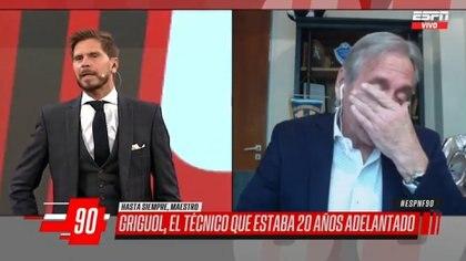 """Las lágrimas del Cai Aimar al recordar a su amigo Carlos Timoteo Griguol: """"Estuve 18 años viviendo con él"""""""