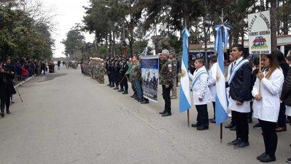 De la ceremonia participaron integrantes de la comunidad de Teniente Berdina