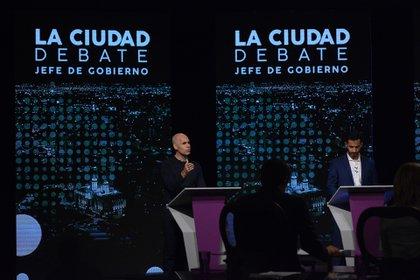 Los candidatos de Juntos por el Cambio, Horacio Rodriguez Larreta y Consenso Federal, Matías Tombolini