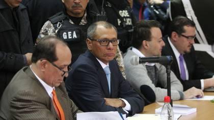 El vicepresidente ecuatoriano Jorge Glas durante el juicio en su contra (Reuters)