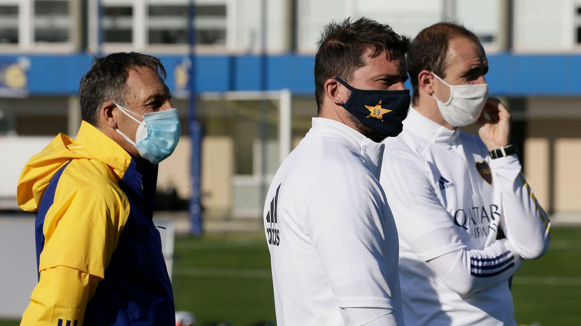 Mariano Herrón, Miguel Ángel Russo y Leandro Somoza