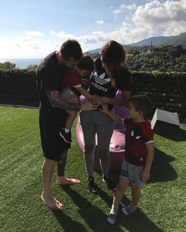 Lionel Messi y Antonela Roccuzzo esperan a su tercer hijo varón