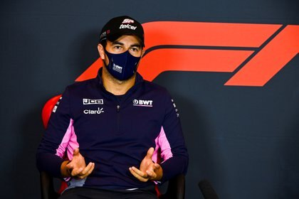 Formula One F1 - Emilia Romagna Grand Prix - Autodromo Internazionale Enzo e Dino Ferrari, Imola, Italy - October 30, 2020  Racing Point's Sergio Perez during a press conference  FIA/Handout via REUTERS ATTENTION EDITORS - THIS IMAGE HAS BEEN SUPPLIED BY A THIRD PARTY. NO RESALES. NO ARCHIVES