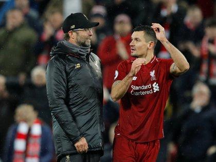 Klopp y Lovren compartieron cinco temporadas en el Liverpool (Foto: Reuters)