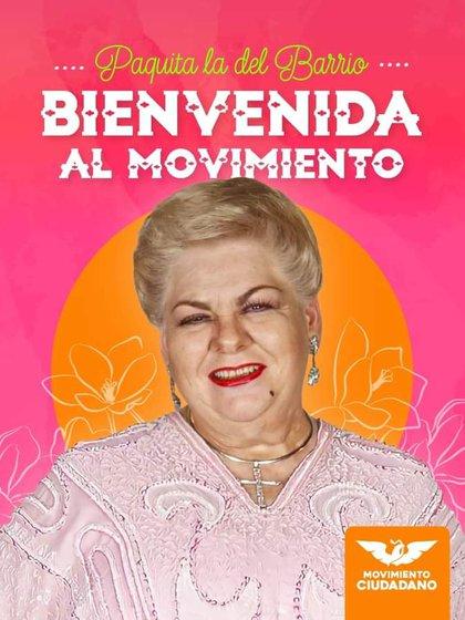 Paquita la del Barrio aseguró que incursionó en la política por amor a su tierra (Fotografía: Facebook/ MC Veracruz)