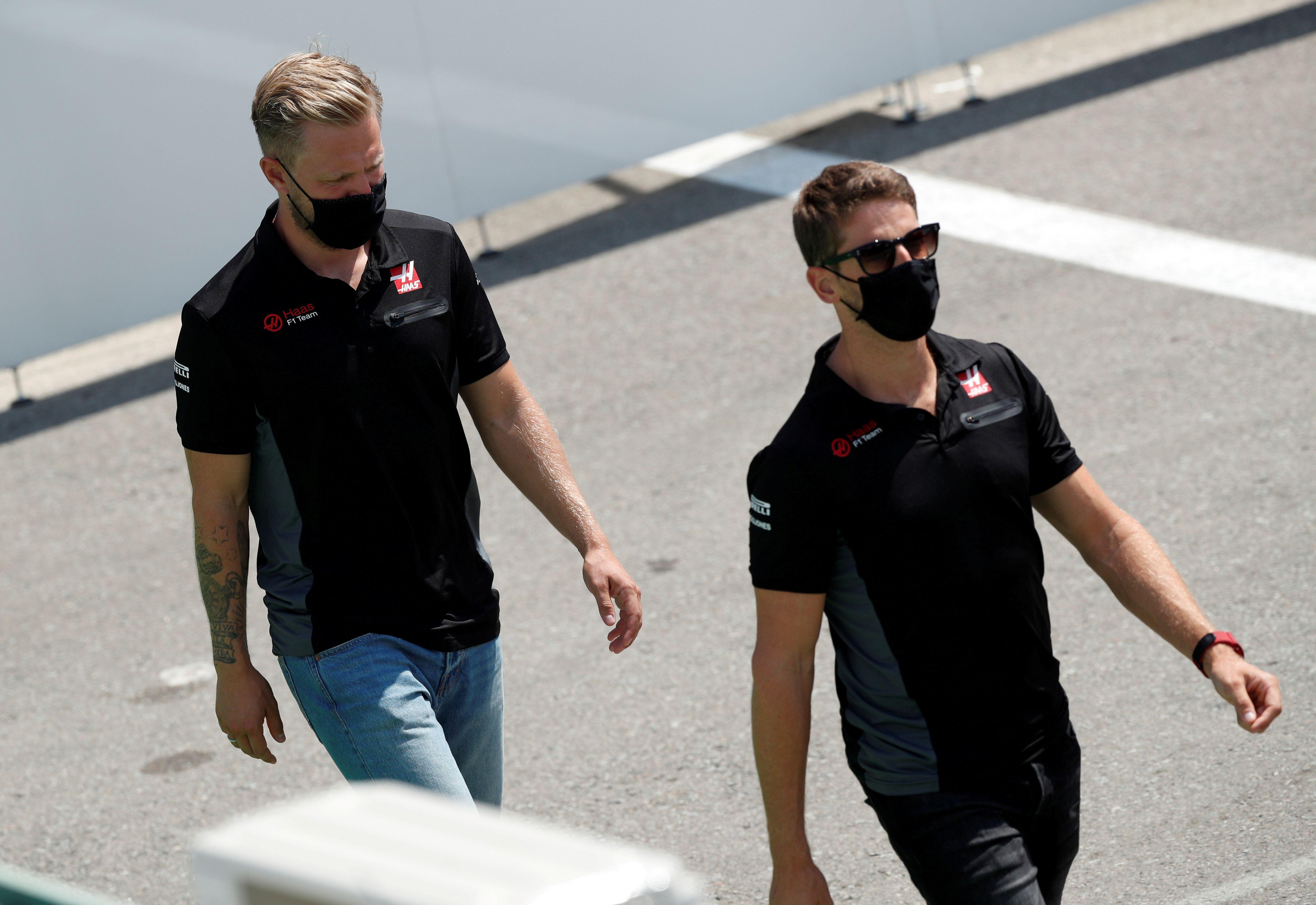 Kevin Magnussen y Romain Grosjeanno continuarán en Haas durante 2021 (Foto: Reuters)
