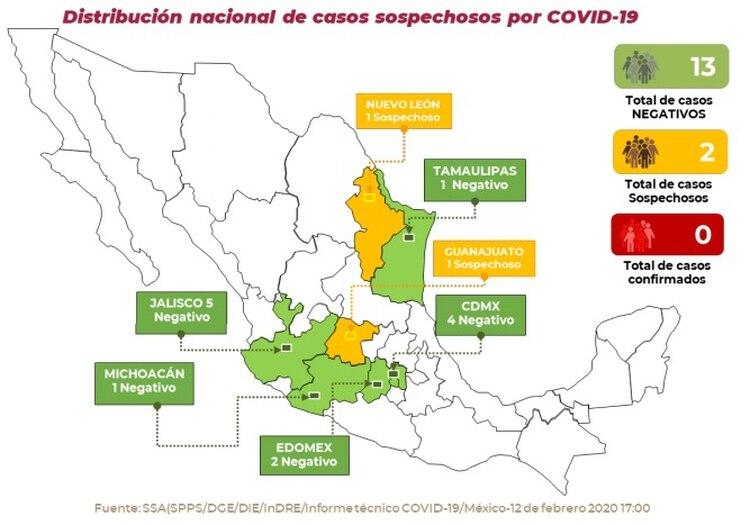 (Foto: Secretaría de Salud/Comunicado Técnico Diario Nuevo Coronavirus en el Mundo)