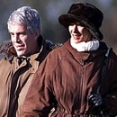 EXCLUSIVE. SPECIAL FEES APPLY. PLEASE CONTACT US. Mandatory Credit: Photo by Albanpix/Shutterstock (1294657a) Jeffrey Epstein and Ghislaine Maxwell Jeffrey Epstein and Guests on a Pheasant Shoot with Prince Andrew, Sandringham, Norfolk, Britain - 08 Dec 2000 Following further revelations Prince Andrew is facing growing pressure over his links to billionaire convicted sex offender Jeffrey Epstein. As the scandal grows the Duke of York was summoned to see the Queen at Buckingham Palace where she allegedly expressed her concern. According to recent reports Epstein was allowed to land his private jet at an RAF fighter base during a visit to Sandringham in December 2000. Epstein, the Duke's friend Ghislaine Maxwell and several others allegedly flew into RAF Marham in Norfolk on Epstein's Gulfstream jet. According to The Daily Telegraph newspaper they had arrived in Britain the previous day after catching a flight from New York into Paris and then onto Luton.The group stayed at Sandringham - the Queen's country estate - as guests of Prince Andrew for several days. Here they enjoyed a number of typical country pursuits, including a pheasant Shoot. Shutterstock