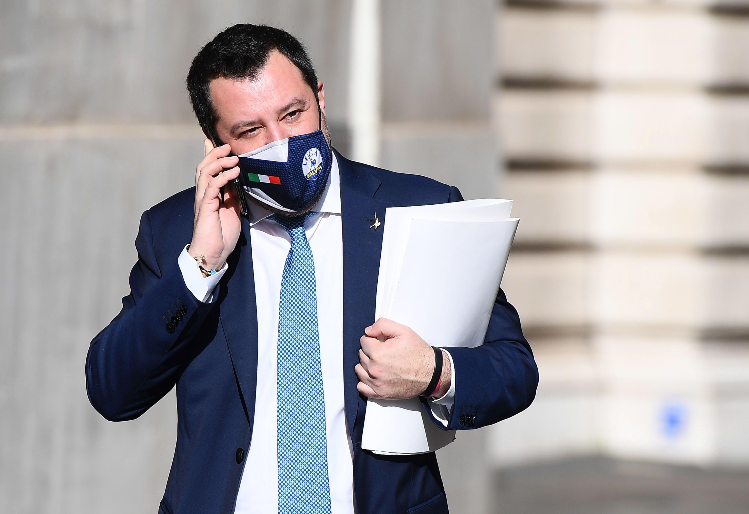 El líder de la ultraderechista Liga, Matteo Salvini. EFE/EPA/ETTORE FERRARI