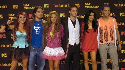 Fotografía tomada en octubre de 2007 en la que se registró al grupo de pop mexicano RBD (Rebelde), en Ciudad de México. EFE/Mario Guzmán/Archivo