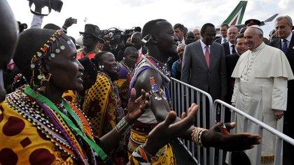 El papa Francisco en Kenia (foto de archivo. AFP)