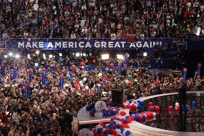 Foto de archivo de Donald Trump en la Convención Nacional Republicana de 2016 en Cleveland, Ohio (REUTERS/Carlo Allegri)