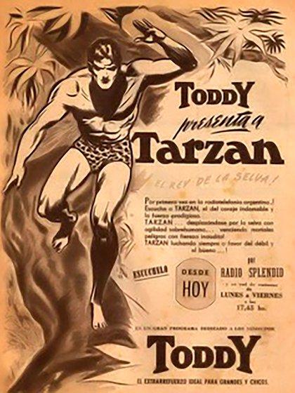 Aviso de lanzamiento de Tarzán, un gran suceso en Radio Splendid en 1950