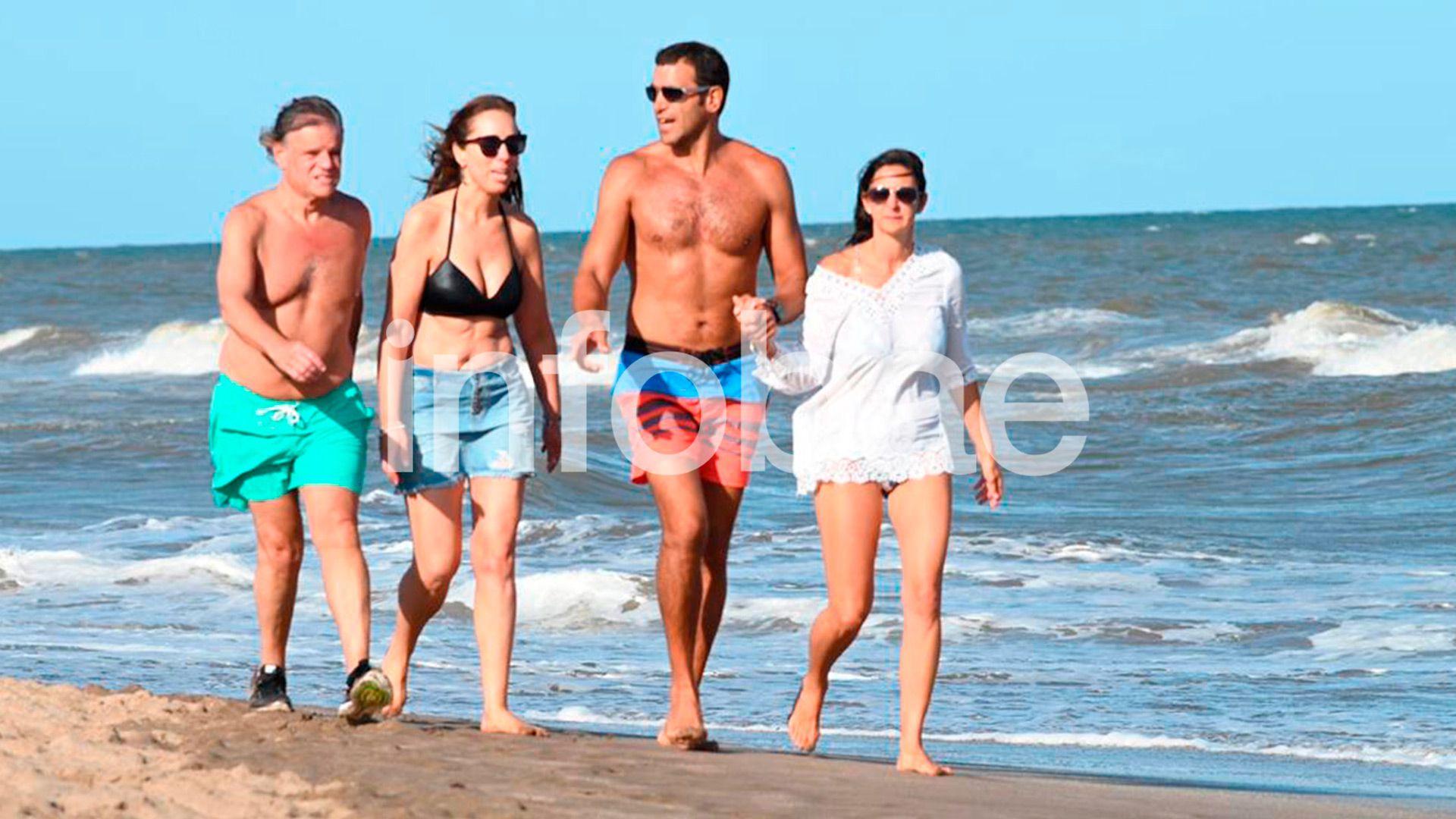 María Eugenia Vidal y Quique Sacco compartieron un fin de semana en la playa después del viaje a París
