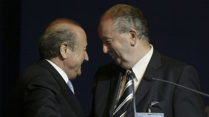 Blatter era el presidente de la FIFA y Julio Grondona su vicepresidente senior
