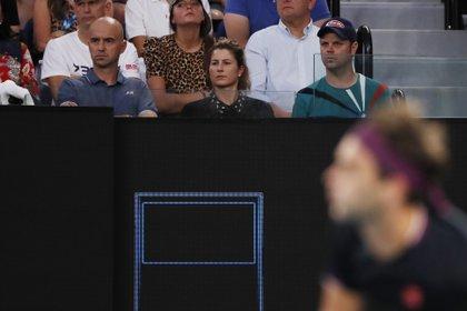 Mirka, protagonista en la ausencia de Roger en el primer Grand Slam del año (REUTERS/Issei Kato)