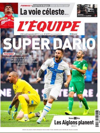"""""""Súper Darió"""", la portada de L'Equipe por la gran actuación de Darío Benedetto"""
