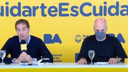 Santilli junto al Jefe de Gobierno porteño, Horacio Rodríguez Larreta