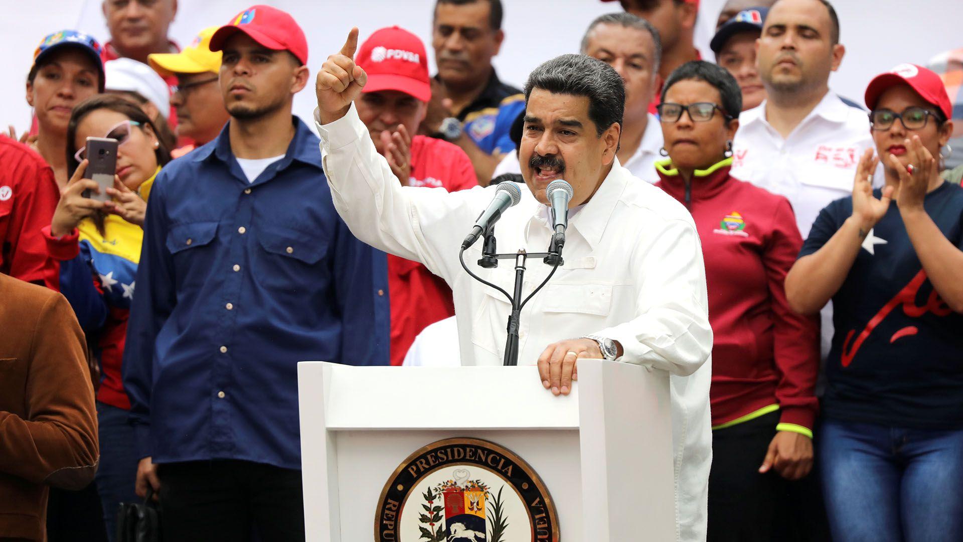 Nicolás Maduro en un acto en Caracas (REUTERS/Manaure Quintero)