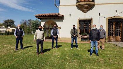 La reunión que tuvieron los intendentes de Juntos por el Cambio en San Miguel (@Nestorgrindetti)