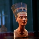 The bust of Queen Nefertiti is pictured in the closed exhibition hall without visitors of the Egyptian Museum and Papyrus Collection, amid the coronavirus disease (COVID-19) pandemic during lockdown, in Berlin, Germany, March 1, 2021. Picture taken March 1, 2021. REUTERS/Fabrizio Bensch