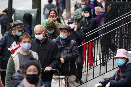 La pandemia de coronavirus en Manhattan, ciudad de Nueva York. REUTERS/Carlo Allegri