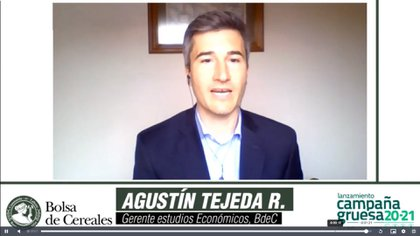 Agustín Tejeda Rodríguez, economista jefe de la Bolsa porteña (Bolsa de Cereales de Buenos Aires)