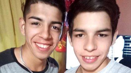 Laureano y Octavio Joel Coria, hermanos del barrio Santa Rosa, dos de los nueve detenidos.