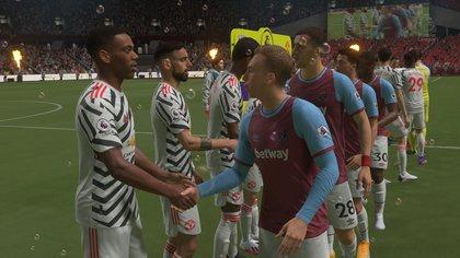 La presentación es tan detallada que en el estadio de West Ham United aparecen las míticas burbujas.