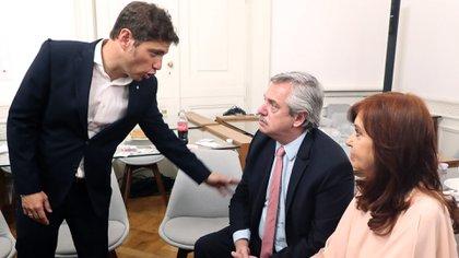 Axel Kicillof, Alberto Fernández y Cristina Kirchner (Presidencia de la Nación)