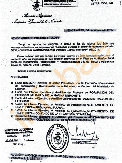 El documento que prueba que en el Ministerio de Defensa conocían las deficiencias del submarino